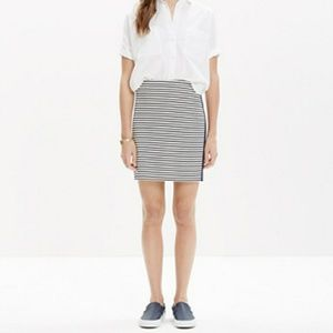 Madewell Eventide Striped Zip Skirt Size XS